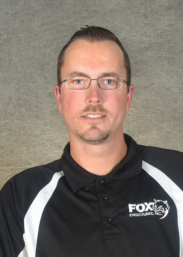 Headshot of Fox Structures Foreman Travis Woldt