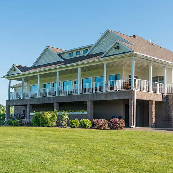 The Oaks Golf Course Club House in Cottage Grove, WI. Designed and built by Fox Structures