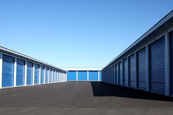 Apple Storage outdoor storage facility in Kaukauna, WI. Designed and built by Fox Structures