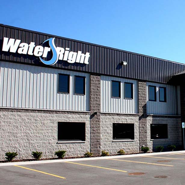 Water Right commercial office in Appleton, WI. Building designed and built by Fox Structures
