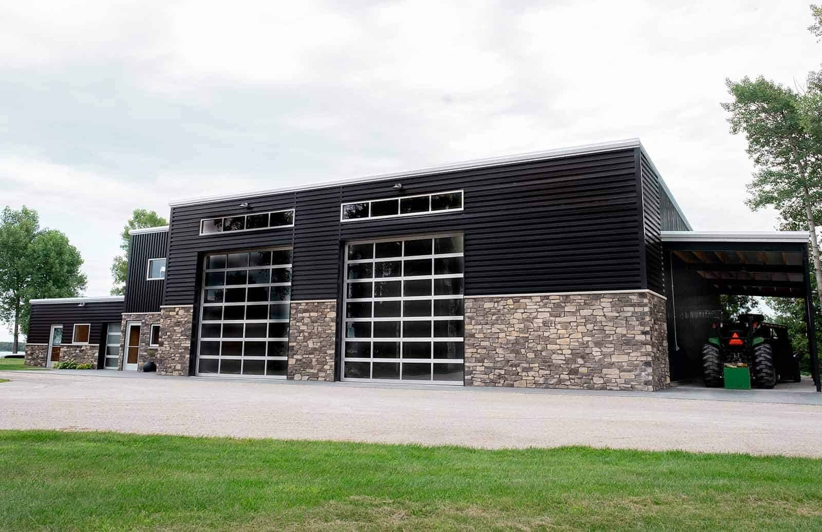 Front exterior view of Troy and Gail Temme's Waterfront Workshop, commercial building in Sturgeon Bay, WI