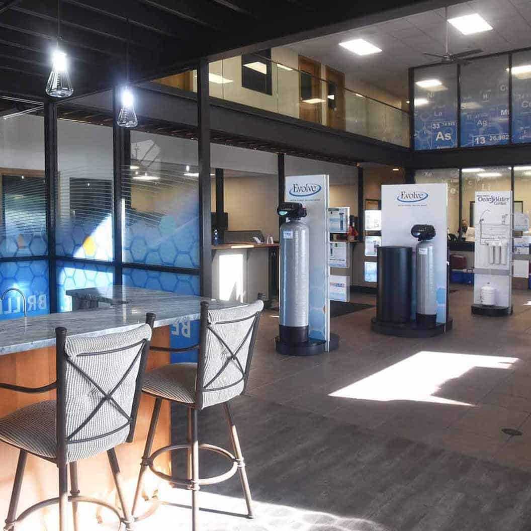 Commercial Remodel Project Clean Water Building Interior Lobby and Showroom