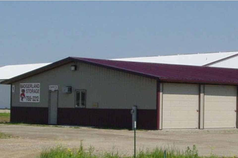 Storage construction in Little Chute, WI. Badgerland Storage facility and front office space
