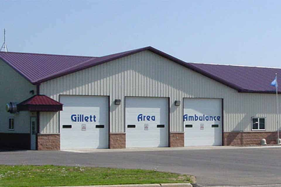 Commercial Construction of the Gillett Area Ambulance storage and office facility