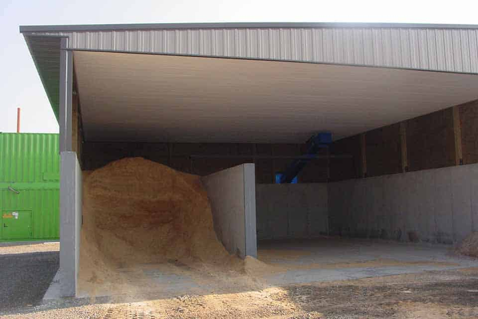 Agricultural construction, construction of storage building at Grandview Dairy