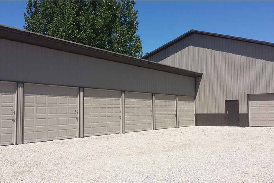 Residential construction of a storage garage