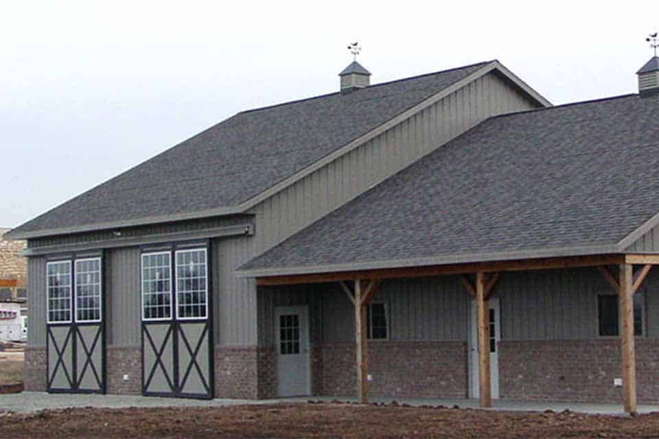 Equestrian Construction in Freedom, WI, Exterior view of a custom equestrian facility built by Fox Structures, Inc.