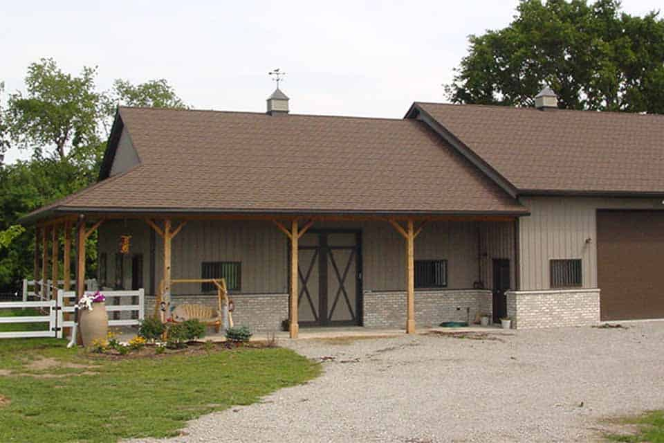 Equestrian Construction in Appleton, WI, exterior view of an equestrian facility built by Fox Structures, Inc.