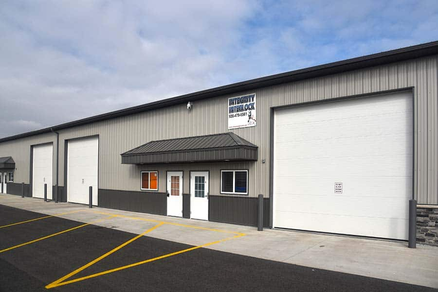 exterior awnings over doors and windows at Little Chute Storage facility in Little Chute, WI